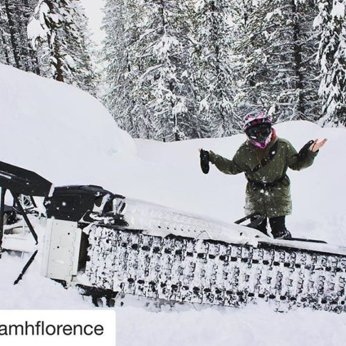 Instagram Repost @niamhflorence ・・・ tried snowmobiling today, safe to say …