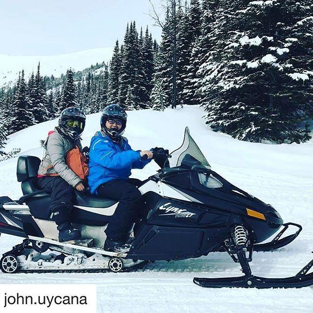 #Repost @john.uycana ・・・ Happy Birthday wifey @rem.uycana ! #adventuresofuycana #snowmobiling #tobycreekadventures #firsttimesnowmobiling