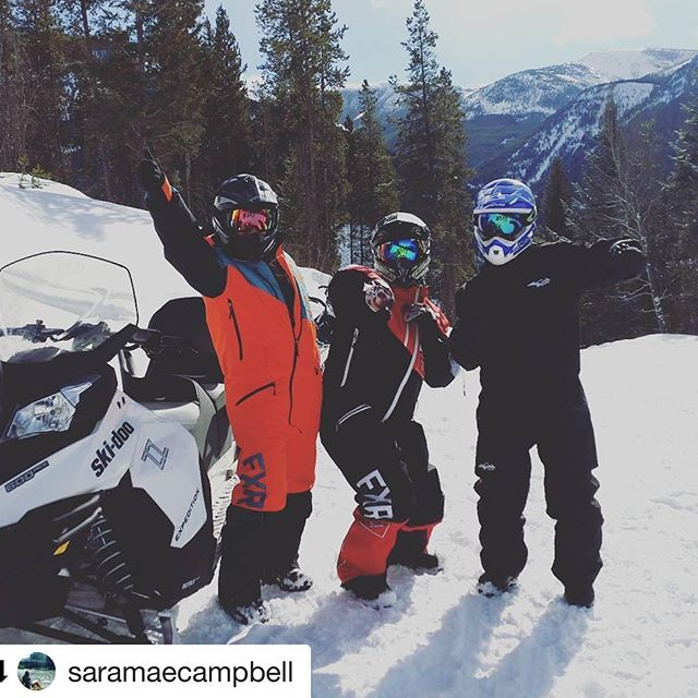 #Repost @saramaecampbell with @repostapp ・・・ Radical!!! With only 8 months left on Canada gotta start ticking things off the old bucket list!  #snowmobiling #tobycreekadventures #bloodyawesomemate