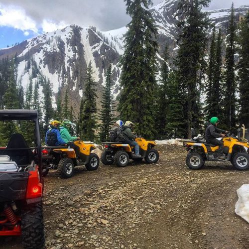 Our brand new yellow @canam #Outlander 2-person #ATV machines looked …