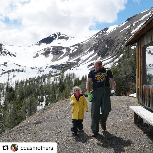 #Repost @ccasmothers ・・・ Helpin out lil Emms with snowballs at the top of the Purcell Mountains #purcellmountains #tobycreekadventures