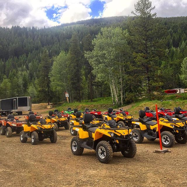 Washed, fueled, parked. Ready for another day of #ATV adventures. #PanoramaBC #purecanada #banff #canadianrockies