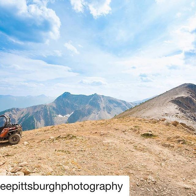 #Repost @meepittsburghphotography ・・・ We made it to the mountain peak! Such a fun experience! @tobycreekadv . . . . #MEEPhotography #banff #banffadventures #tobycreekadv #mountains #sidebyside #mountainpeak #canadianrockies #Canada #exploretheworld #photographer #photography #canadianmountains #getoutside #cfmoto #cfmoto500 #cfmotoclub