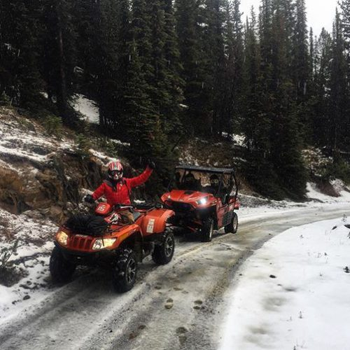 Today's #ATVtour guests found some fresh snow waiting along the …