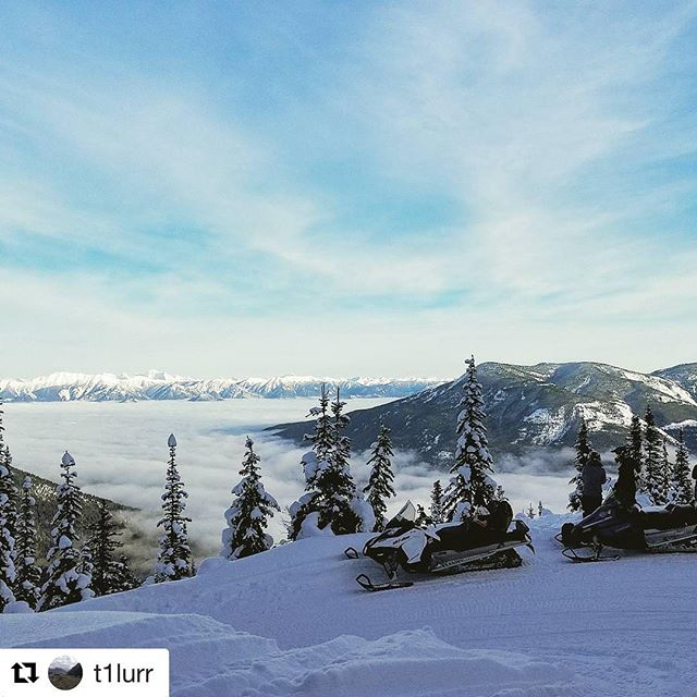 REPOST: @t1lurr ・・・ Snowmobiled to paradise today #paradise #purcell #tobycreekadventures …
