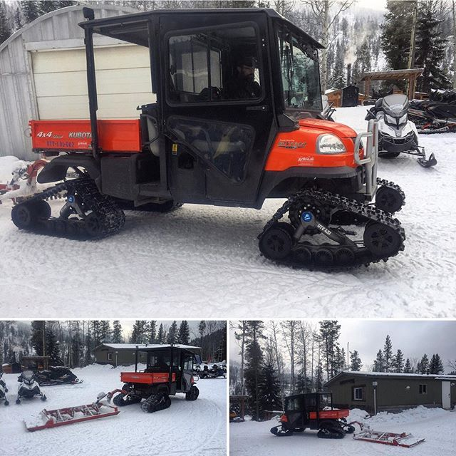 Introducing our new Kubota trail groomer!! A well groomed trail is critical to the comfort, fun and quality experience of our guests. Our trails are groomed daily and this season we have invested in a new #Kubota RTV-X1140 utility vehicle with snow tracks as the latest addition to our grooming fleet. This turbo-charged 4WD diesel workhorse will be out on the #ParadiseBasin trail each day smoothing out the bumps and ensuring your full enjoyment when you come for a snowmobile tour at #TobyCreekAdventures. #canadianrockies #panoramabc #banff #canmore #purecanada #kubotalife #kubotartv @kubotacanada