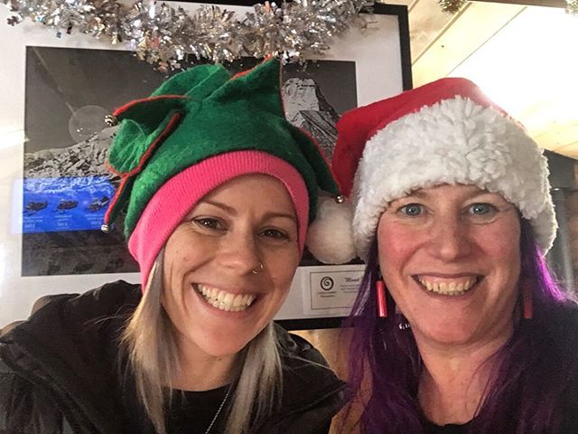 #Santa and her elf were busy in the office today, …