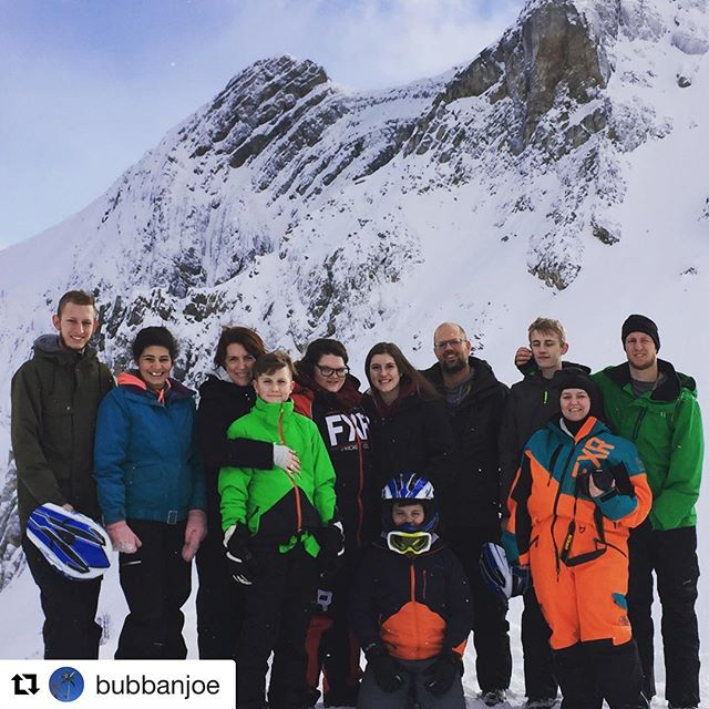 #Repost @bubbanjoe ・・・ No more gifts for Christmas,  experiences instead. This year,  Snowmobiling in BC. Only missing Ty who was unfortunately too sick today. Amazing! #tobycreekadventures #familytime #memories #everythingIdoisforthesepeople