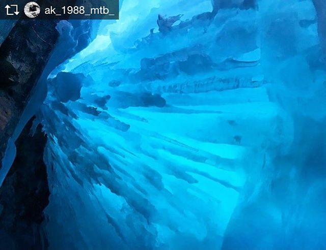 Repost from @ak_1988_mtb_ . .  Cheers for a cracking day guys @tobycreekadv inside a frozen waterfall. #frozen  #waterfall #tobycreekadventures #goodtimes #trippy #inside #frozenwaterfall #blue #bc #canada #adventure #travel #explore.