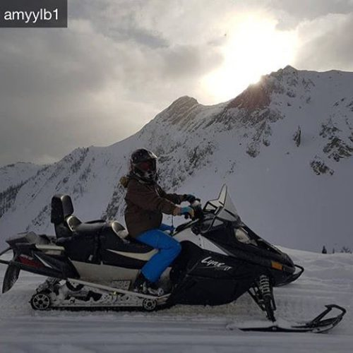 Repost from @amyylb1 Today I tried a snowmobile and (just) …