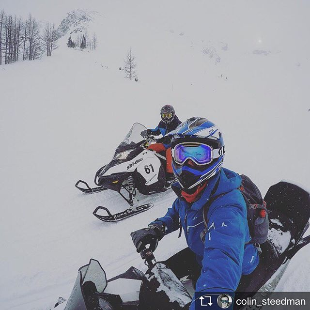 Repost from @colin_steedman Sledding and Shredding!!! . .. ... #sledding #snowmobile #nobaddays #nonstopsnow #panorama #britishcolumbia #bc #hellobc #travelbc #canada #shredded #skiseason #instructorlife #gopro #gopro_featured #goprouk #goprophotography