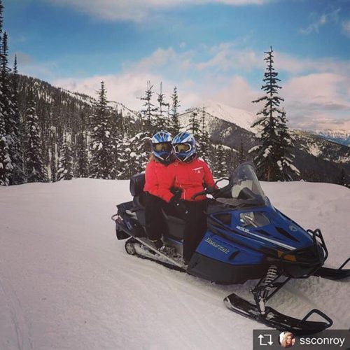 Repost from @ssconroy Ventured into another province to brave snowmobiling! …