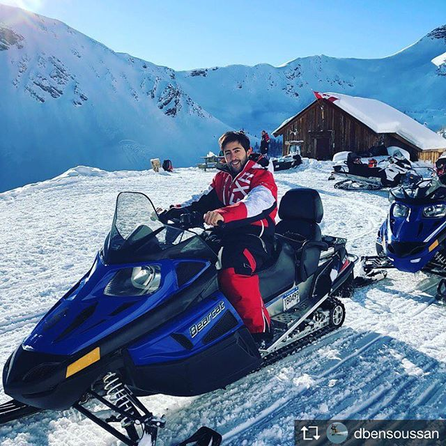 Repost from @dbensoussan Snowmobile #mountain #ride