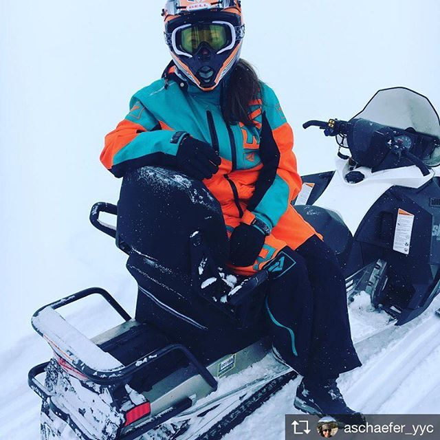Repost from @aschaefer_yyc Snowmobile tour today with my lady @christine_may_118, …