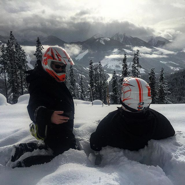 Sit back and soak in the view!! #snowmobiletours #paradisemines #tobycreekadventures …