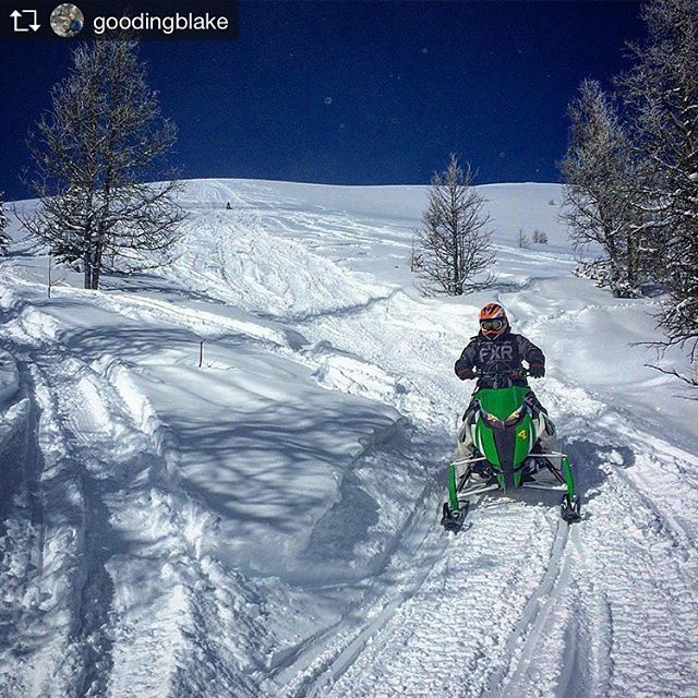 Repost from @goodingblake Got these fellas up the heli run. …