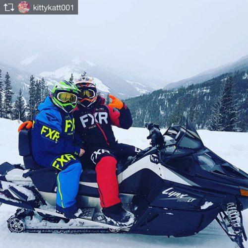 Repost from @kittykatt001 #tobycreekadventures #hadsomuchfun #lovethisguy #amazing #snowmobile #fxr