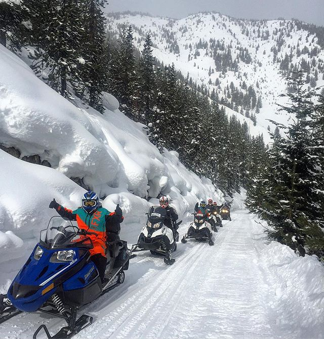 If you have never seen this much #snow before we can help you with that!! #tobycreekadventures #snowmobiletours #canadianrockies #banff #canmore #calgary #panoramabc #purecanada