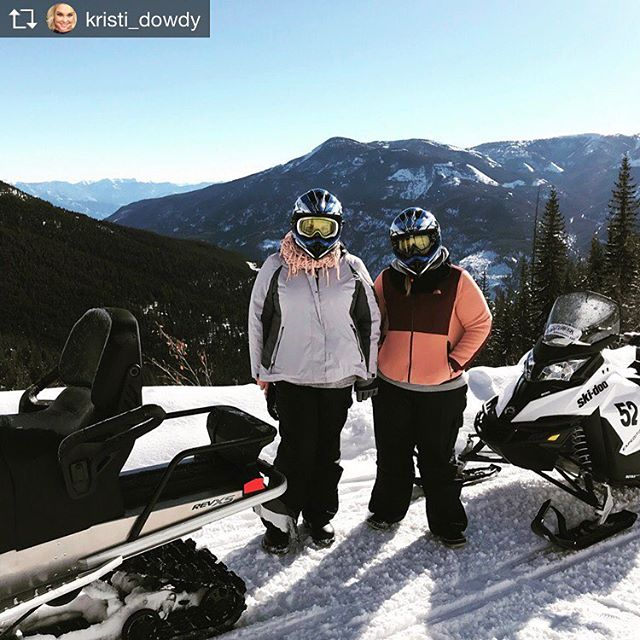 Repost from @kristi_dowdy Day 2: Spent the day today snowmobiling through the Rockies where we stopped at 8,000 ft for lunch and free riding. Then ended the day at the Banff Hot Springs. Over all Canada was a success! ???????? #winteradventure #tobycreekadventures