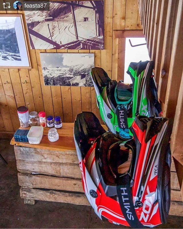 Repost from @feasta87 Cozy Cabin times - helmet hangs & hot drinks ???? @tobycreekadv
