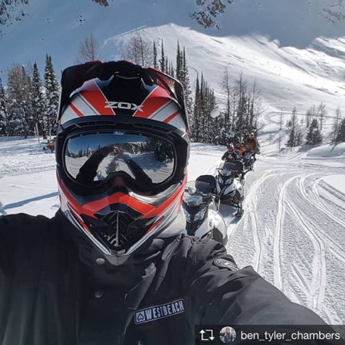 Repost from @ben_tyler_chambers Snowmobiling so amazing! Such a fun day …