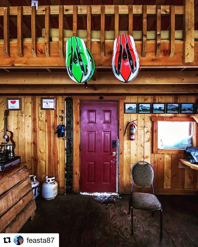 #Repost from @feasta87 ・・・ Hanging up the helmets after a great winter season snowmobiling @tobycreekadv #snowmobiletours #panoramabc #snowmobiling #tobycreekadventures