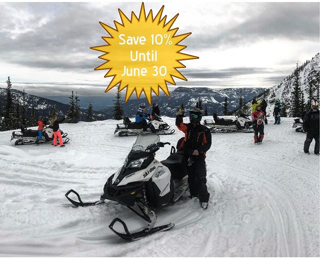 SAVE NOW on next winter's snowmobile tours.  For the …