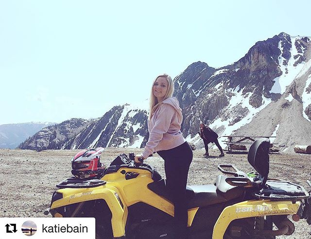#Repost from @katiebain ・・・ Watch out world, today it's an ATV , but someday I could be driving an actual car and being a danger to myself and those around me ?  Shoutout to Andrea, she makes this picture  #tobycreekadventures