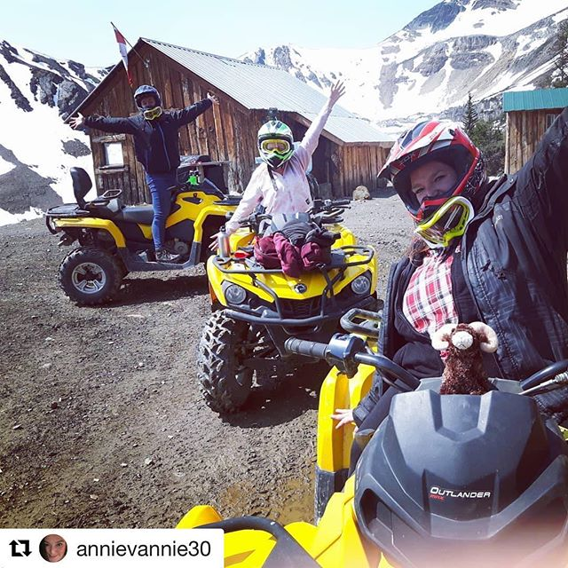 #Repost from @annievannie30 ・・・ Favourite thing so far! ❤ #tobycreekadventures#atvriding#paradisemountain