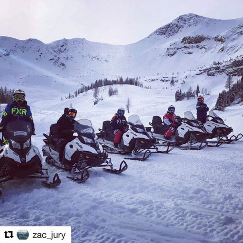 #Repost from @zac_jury・・・Snowmobiling? Don't mind if I ski-doo! ????????⛄️???????? #tobycreekadventures #panorama #canada #snowmuchfun #shredding