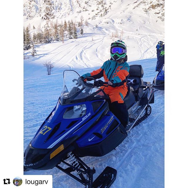 #Repost from @lougarv ・・・ Had the best morning Snowmobiling for …