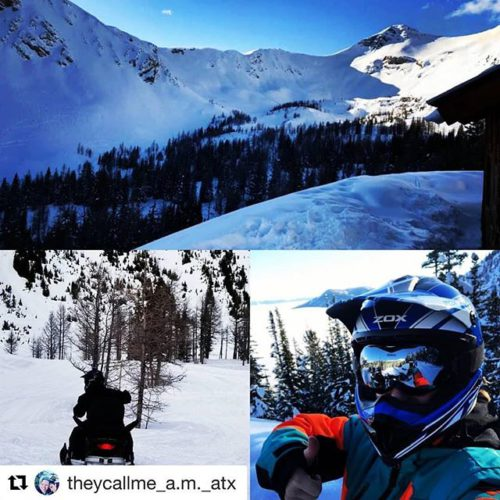 "#Repost from @theycallme_a.m._atx ・・・ Snowmobiling in ""The Bowl"" . . …"