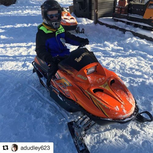 #Repost from @adudley623 ・・・ Did some snowmobiling today. They even …