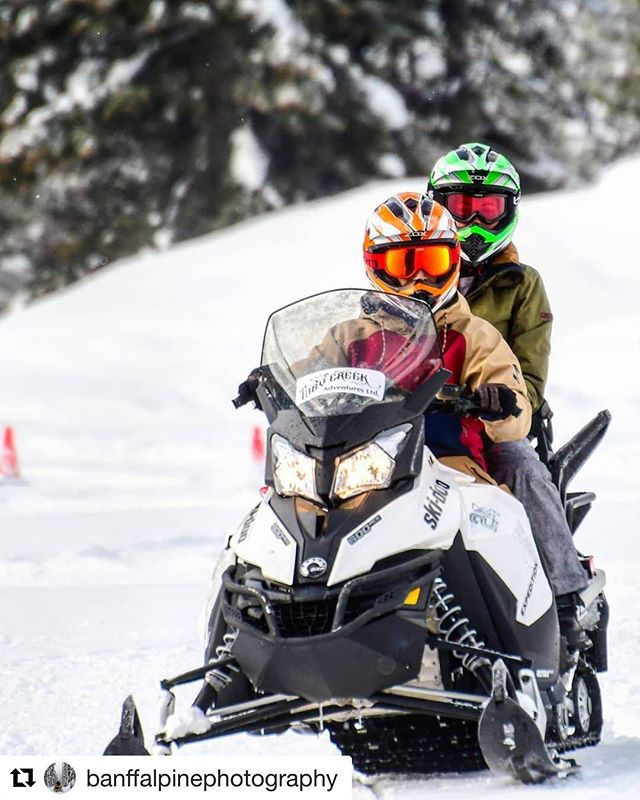 #Repost from @banffalpinephotography ・・・ Come learn to snowmobile at Toby Creek Adventures! Try it out in our playfield before heading up to 8,000' . . . . #snowmobile #sled #sledding #snow #winter #adventure #tobycreekadventures #mountains