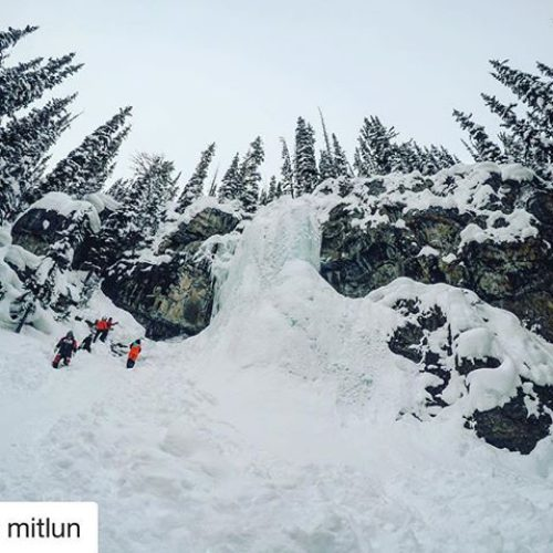 #Repost from @mitlun ・・・ Chasing frozen waterfalls ???? . #canada …