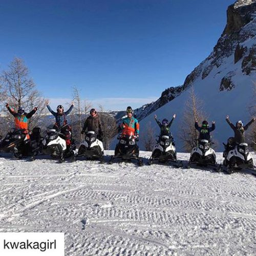 #Repost from @kwakagirl ・・・ Day 596: Snowmobiling! I finally did …