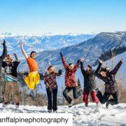 #Repost from @banffalpinephotography ・・・ Bluebird days and snowmobiling! . . …