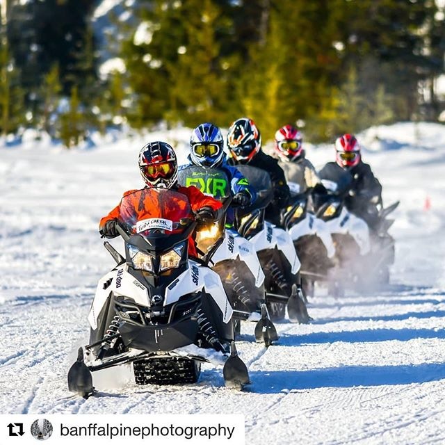 #Repost from @banffalpinephotography ・・・ Let's go! . . . . #snowmobiling #snow #snowmobile #snowboarding #winter #sledding #skidoo #arcticcat #polaris #adventure #sled #mountains #snowmobiles #yamaha #snowmobiler #nature #winterwonderland #cold #explore #outdoors #getoutside #powder #snowday #snowmobilefun #stroke #canada #tobycreekadventures