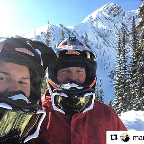 #Repost from @marichatg ・・・ Mountain snowmobiling with my dad. @tobycreekadv …