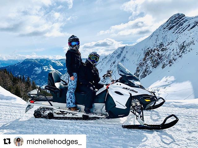 #Repost from @michellehodges_ ・・・ On international women's day, I made my husband drive the snowmobile while I enjoy the views 😉