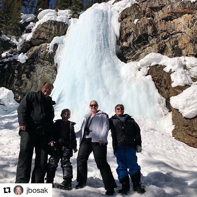 #Repost from @jbosak ・・・ Snowmobile adventure with #tobycreekadventures #frozenwaterfall #paradiseminetour …