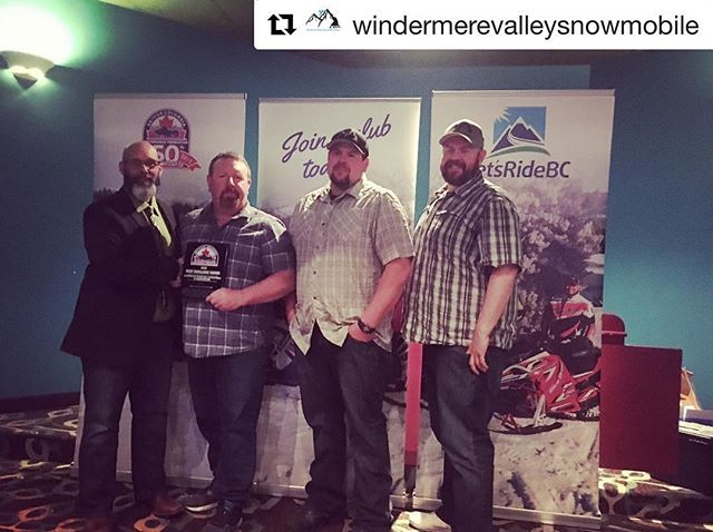 We are really excited about this. What an awesome award. Thanks very much to the @bcsnowmobilefederation  for the  recognition of our company with this award of excellence and to @windermerevalleysnowmobile for accepting it on our behalf 😀👍👌 . ******************************** #Repost from @windermerevalleysnowmobile ・・・ On behalf of @tobycreekadv our WVSS team accepted their award for outstanding promotion and development of snowmobiling. A huge Congratulations to the team at Toby Creek for being absolutely amazing!  #bcsfagm2019 #snowmobilelife #windermerevalleysnowmobilesociety