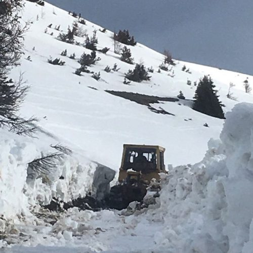 The Big Dig! Plowing the road to Paradise Ridge. Paradise …