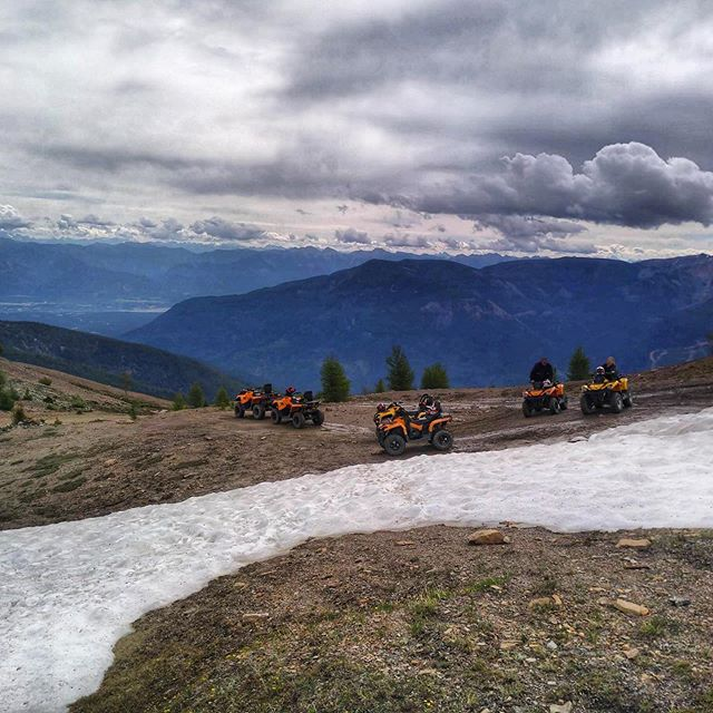 Mid-July but there's still some snow to play in up on Paradise Ridge. #tobycreekadventures