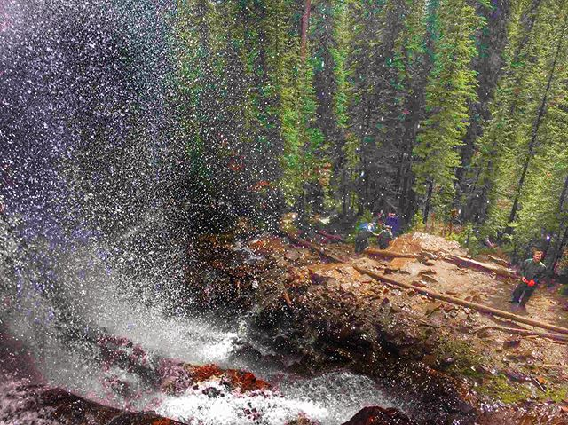 Here's an unusual view of the Smith Falls courtesy of TCA guide @goodingblake. Do you have some great shots of your adventure? Tag us or use #TobyCreekAdventures - we love to share your memories ???? . .  #canadianrockies???????? #atvtours #panoramamountainresort #banff #canmore #invermere #radiumhotsprings #fairmonthotsprings #explorebc #canada #summer2019