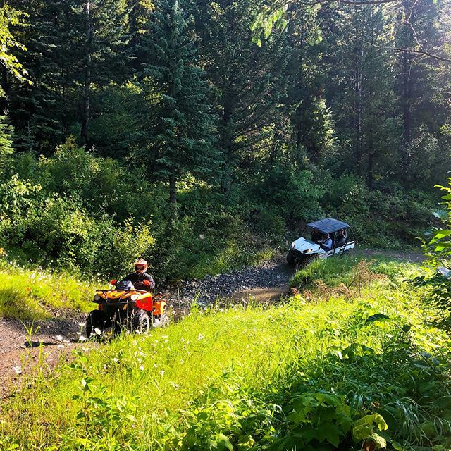 Negotiating one of the creek crossings on the trail to Paradise. . . ****************************** .  Toby Creek Adventures is the premier #ATV & #Snowmobile tour operator in the Canadian Rockies. We offer daily #adventure trips summer and winter starting from only .  Daily Banff & Canmore hotel pickup and FREE transport to our Panorama base is available for some of our tours.  Please see our website for tour options and 24/7 online booking or call us toll-free direct at 1-888-357-4449 . ****************************** .  #TobyCreekAdventures #CanadianRockies #Banff #Canmore #Invermere #RadiumHotSprings #ColumbiaValley #PanoramaMountainResort #SkiBanff #PanoramaBC #PureCanada #DestinationMarketing
