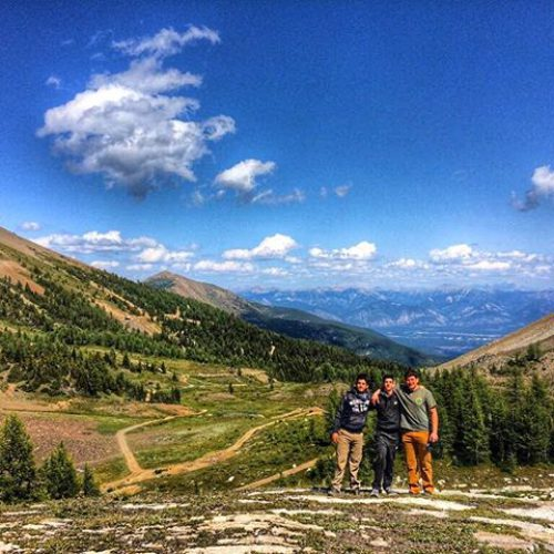 Paradise ….. and beyond in the distance, the Canadian Rockies. …